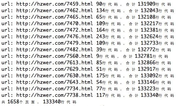 「Python3爬虫」统计博客代码量